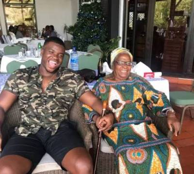 "Mich 300x270 - ENTERTAINMENT: 9years Away! Michael ""Big Shaq"" Dapaah visits his Nana in Ghana"