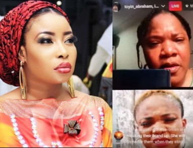 """60ad659168ead - """"Stop cursing my son and husband""""- Actress Toyin Abraham breaks down in tears as she addresses her issue with Lizzy Anjorin (video)"""