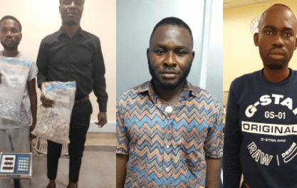 Wanted drug dealer caught in church as another excretes 68 wraps of heroin at Lagos airport (photos)