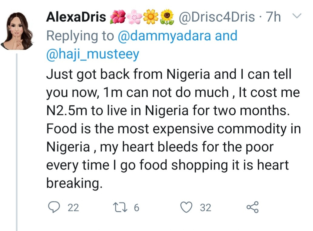 """612d5f4d5cc86 - """"It cost me 2.5 million to live in Nigeria for two months"""" UK-based woman who visited Nigeria says her heart bleeds for the poor in the country"""