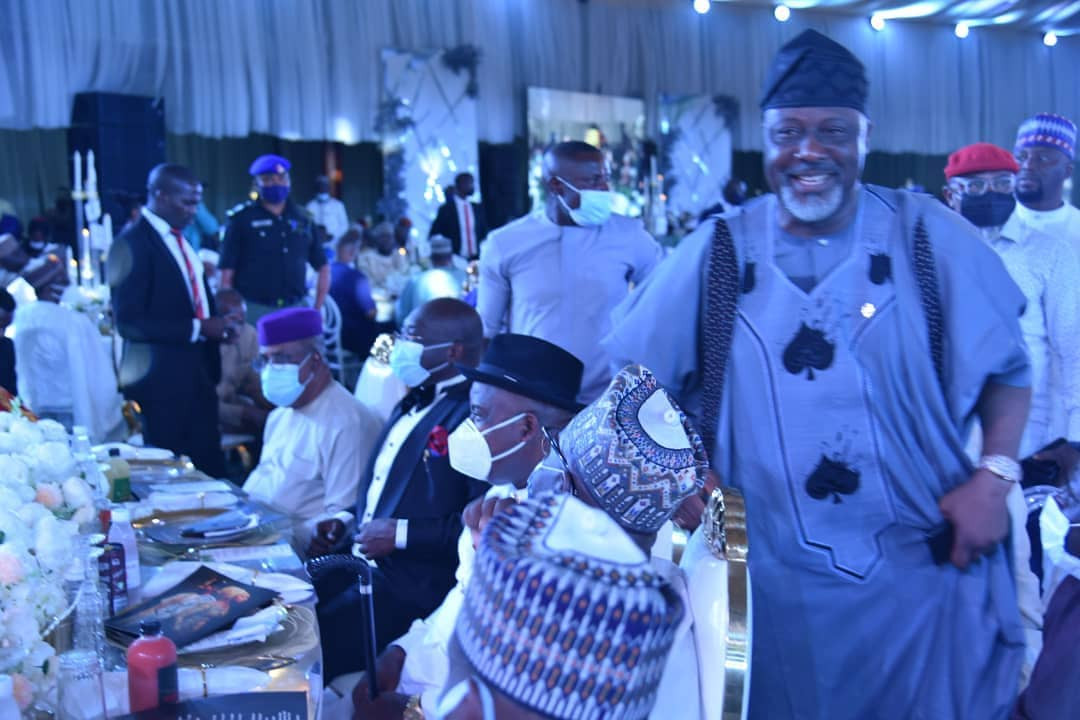 Patience and Goodluck Jonathan, Ahmed Lawan, Gov Diri, Dino Melaye, others at wedding reception of Gov. Mohammed