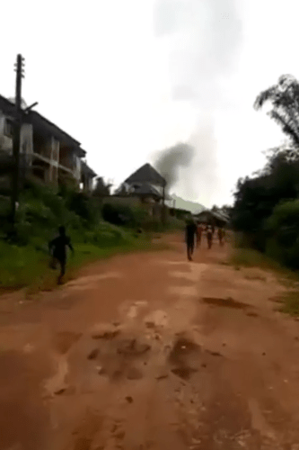 Alleged IPOB?s ESN militants attack Imo school, stop students from writing  their JSSCE and set motorcycles belonging to staff and students on fire (video)