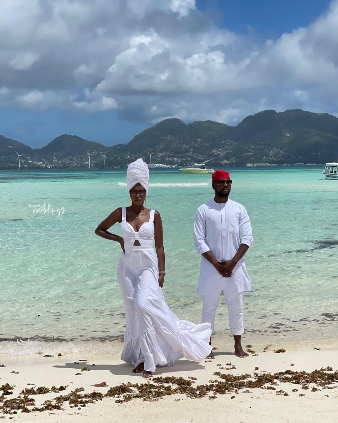 6140906bb49da - Media personality, Debola Williams and wife spend their honeymoon in Seychelles