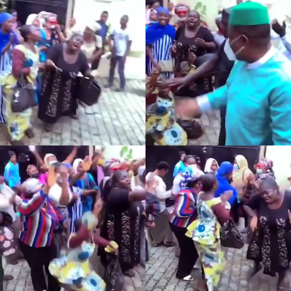 6148ec9b6a818 - '''Our helper''- Cheering female supporters of FFK shout as he returns home after his defection from PDP to APC (video)