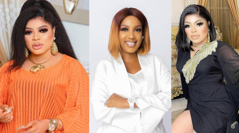 I didn?t know you before, but now I can recognize you now with your fat nose - Bobrisky fires back at The Johnson star, Seun Osigbesan after she said he?s a disgrace to manhood