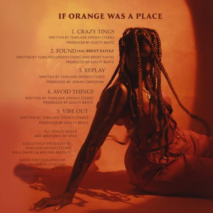 """Orange Tracklist 1024x1024 - [EP] Tems - """"If Orange Was A Place"""" The EP « tooXclusive"""