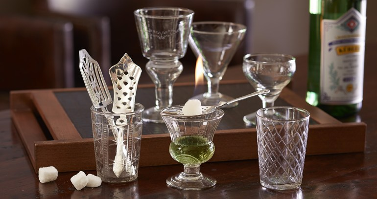 Absinthe Spoons and Glasses