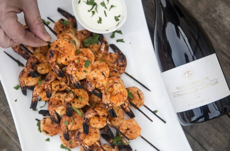 Spicy Grilled Shrimp and Prosecco Superiore Wine Pairing
