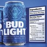 Bud Light Bulks Up Its Nutrition Labels