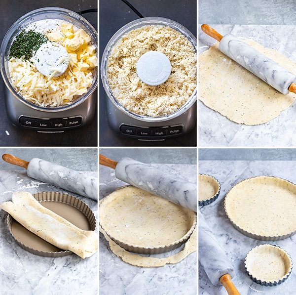 pictures showing how to make the tart crust