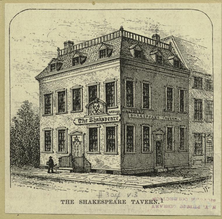 The Shakespeare Tavern, Nassau & Fulton Streets, 1892