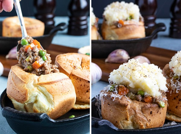 pictures showing how to stuff the yorkshire pudding