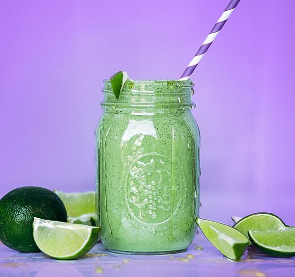 Vegan Key Lime Smoothie made with Vegan Vanilla Shakeology.