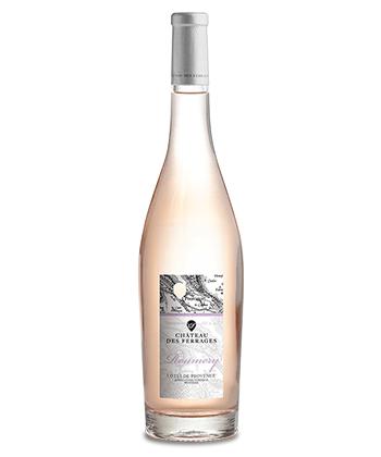 Château des Ferrages Côtes de Provence Roumery Rosé 2019 is one of the top 25 rosés of 2020.