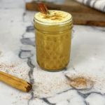 Golden Chai Coconut Milk Latte in a glass