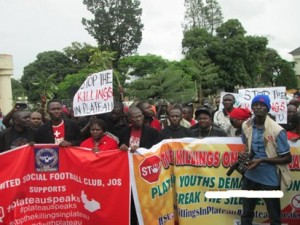 Protests against the deaths in Plateau State