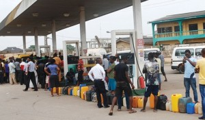 The long queues are back at the petrol stations