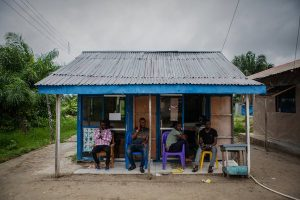 A store in Ugborodo. Residents of the Niger River Delta feel neglected by the government in Abuja.