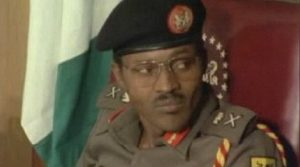 Buhari as a military dictator in the 1980s