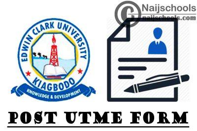 Edwin Clark University Post UTME Screening Form for 2021/2022 Academic Session | APPLY NOW