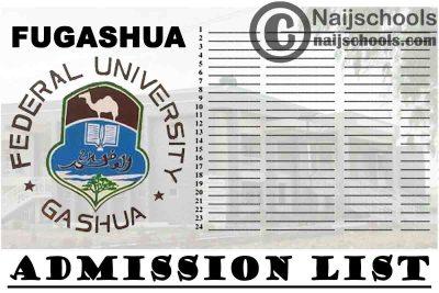 Federal University Gashua (FUGASHUA) Admission List for 2020/2021 Academic Session | CHECK NOW