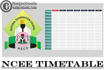 NECO National Common Entrance Examination (NCEE) 2021 Timetable for Admission into Federal Unity Schools | CHECK NOW