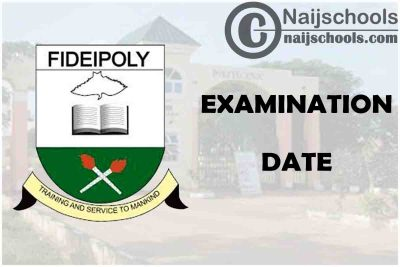 Fidei Polytechnic Gboko (FIDIEPOLY) 1st Semester Examination Commencement Date for 2020/2021 Academic Session | CHECK NOW