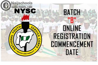 """National Youth Service Corps (NYSC) 2021 Batch """"B"""" Online Registration Commencement Date 