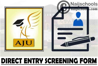Arthur Jarvis University Direct Entry Screening Form for 2021/2022 Academic Session   APPLY NOW