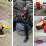 Meet The Talented Capenter Who Has Turn Car Tyres Into Powerful Modern Sopha Table