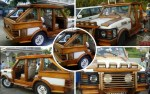 Artist Made A Range Rover Out Of Wood And It's Too Perfect