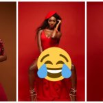 Wendy Shay almost shows her tonga but oiled her b00bs in open legs photos