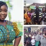 PHOTOS: Maame Serwaa Receives Massive Welcome From Fans At Bawjiase