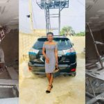 Beautiful lady who's a painter buys Lexus car with her own hard-earned money