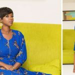 Ama K Abebrese Looking Stunning In This Blue African Print [More Photos]