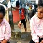 Young Lady goes mad after dropping off from a Benz car