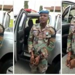 Fake soldier Rashid, arrested by real Ghanaian soldiers