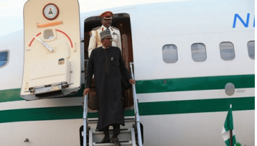 Checkout Photos Of President Buhari Arrival After His 10 Days Private Visit To UK