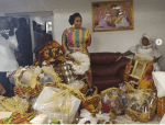 Honourable Adwoa Safo's Husband Loaded A 'Truck' Full of Items To Apostle Kwadwo Safo As Dowry – Photos