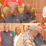 Otumfuo hangs out with Kufuor, Sam Jonah, Ibrahim Mahama at Aburi (photos)
