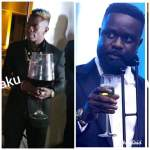 Shatta Wale gets Wine Glass like his Mouth to Challenge Sarkodie – See Photos