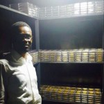 PHOTO: NAM1 poses in a gold vault to assure Menzgold customers that they're getting their monies as promised