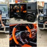 Billionaire wife Regina Daniels spotted posing with a new G-Wagon