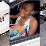 Fella Makafui breaks down in tears as Medikal surprises her with a brand new customized Benz C300