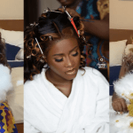 Fella Makafui All Glammed Up As She Prepares To Walk Down The Aisle With Medikal Today(Video+ Picture)
