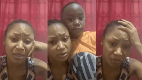 Akuapem Poloo And Son Comes Out To Beg Ghanaians Once Again To Accept Her Apology And Forgive Her