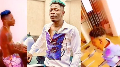 Shatta Wale spends fun time with Majesty (video)