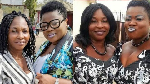 This Throwback Photo of Mercy Asiedu and Kyeiwaa with Heavy Makeup Causes Stirs On Social Media