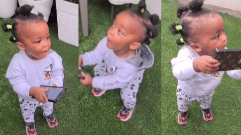Nana Ama McBrown's Daughter, Baby Maxin Gives Cutest Performance Of 'Say Cheese' By Kidi – Video