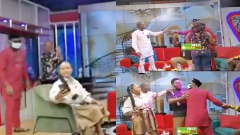 """Lilwin Finally Makes Peace With Funny Face After Receiving A """"Hot"""" Punch On The Mouth (Video)"""